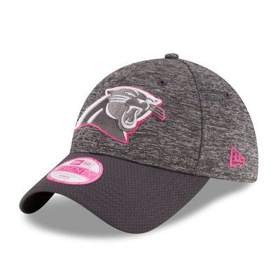 New Era Carolina Panthers Women's Heather Gray 2016 Breast Cancer Awareness Sideline LS 9TWENTY Adjustable Hat