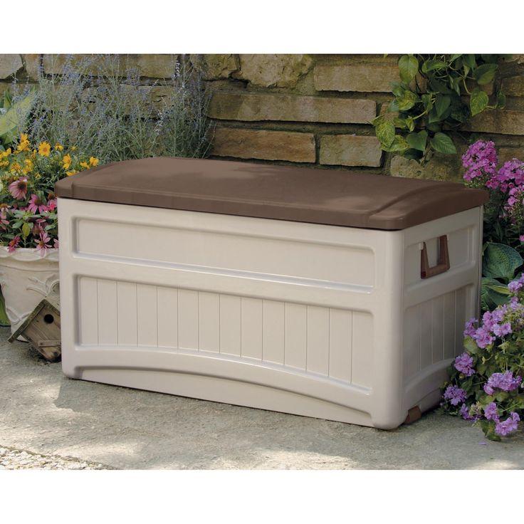 Suncast Morel Premium 73 Gallon Deck Box With Wheels   DB8000B | From  Hayneedle. Outdoor Storage BenchesPatio ...