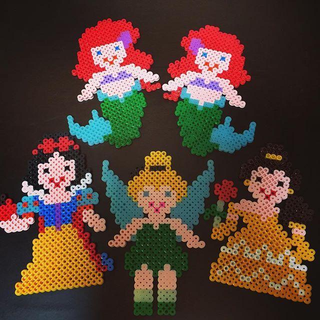 Disney Princess perler beads by kinakohime0521