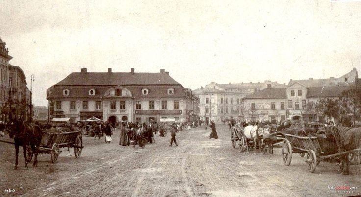 Rynek Podgórski, Kraków - 1912 rok, stare zdjęcia