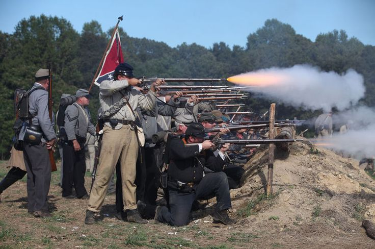 The re-enactment of the battle of New Market Heights drew more than a thousand re-enactors and stretched across over 200 acres of the Malvern Hill site of the Richmond National Battlefield Park.