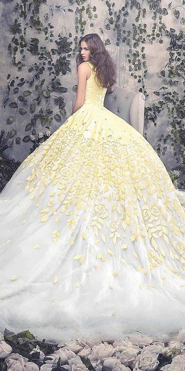18 Gorgeous Floral Applique Wedding Dresses - Trend For 2016 ❤ See more: http://www.weddingforward.com/floral-applique-wedding-dresses/ #wedding #dresses