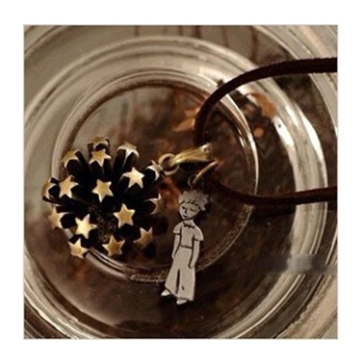 2017 fashion korean star vintage flower the little prince necklace long sweater chain necklaces Free Shipping x40