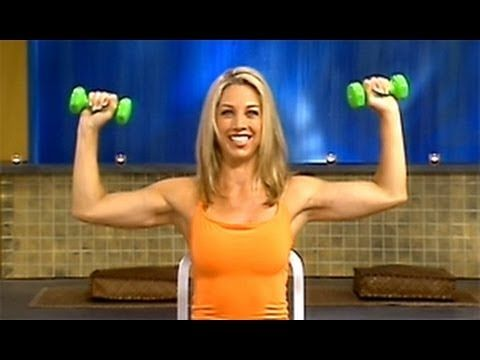 Denise Austin: Upper Body Strength Workout- Level 1 is a low-intensity, strength-training workout that is designed to burn fat and build muscle in the upper body.  Using a set of light hand weights, you will lift the chest, sculpt the upper back and shoulders, tighten the abs, and tone the arms through a series of unique, isolated curls and pres...