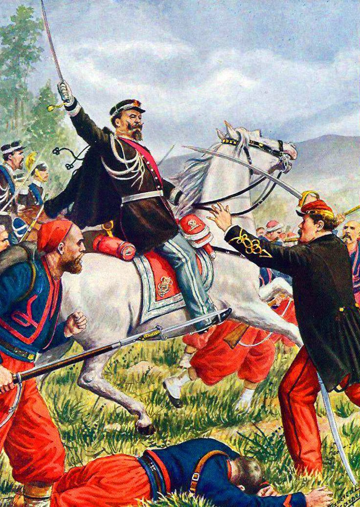 Vittorio Emanuele of Sardinia at the Battle of Solferino