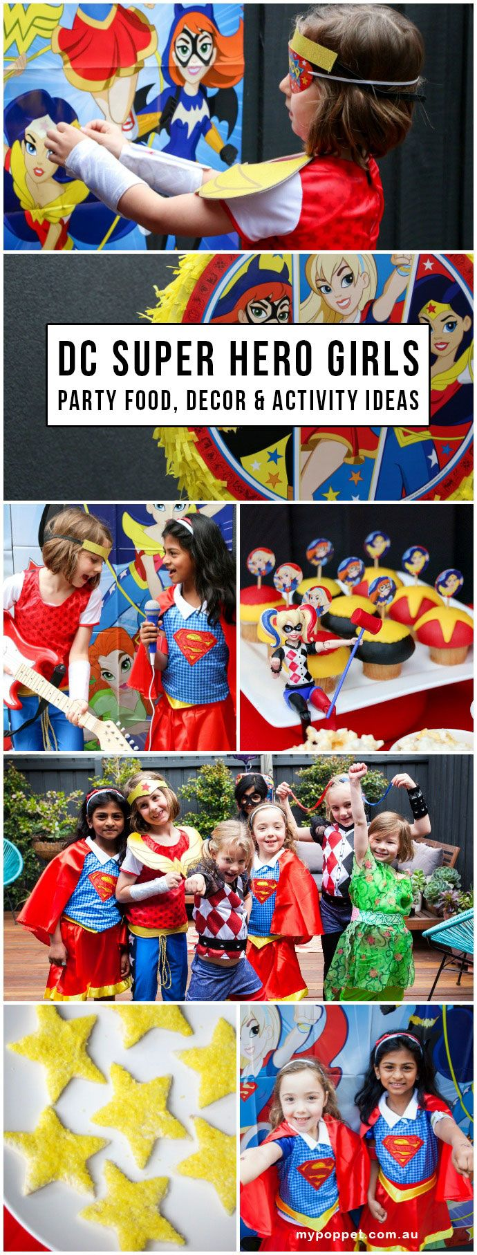Emma's 'DC Super Hero Girls' Party - Fun Party Food, Decorating & Activity Ideas                                                                                                                                                                                 More