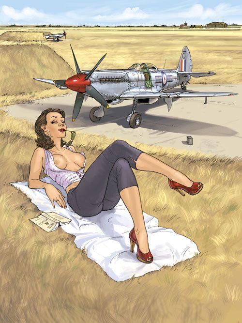 """Romain Hugault - Stripalbums """"Pin-Up Wings 1 & 2"""""""