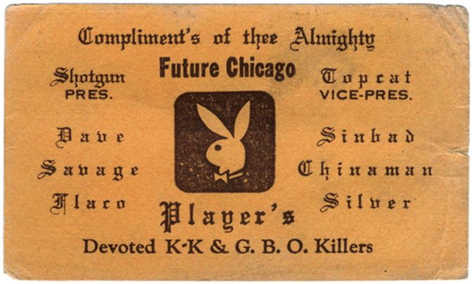 A new book collects quirky, sometimes ugly trademarks of 70s and 80s Chicago gang life.