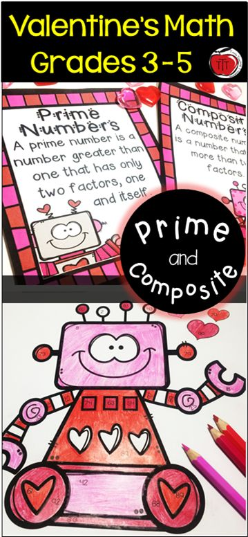 Valentine's Day Math centers focusing on prime and composite numbers. Perfect for students in Grades 3-5. Your students will be fully engaged in these interactive activities.  Created by TchrBrowne / Terri's Teaching Treasures