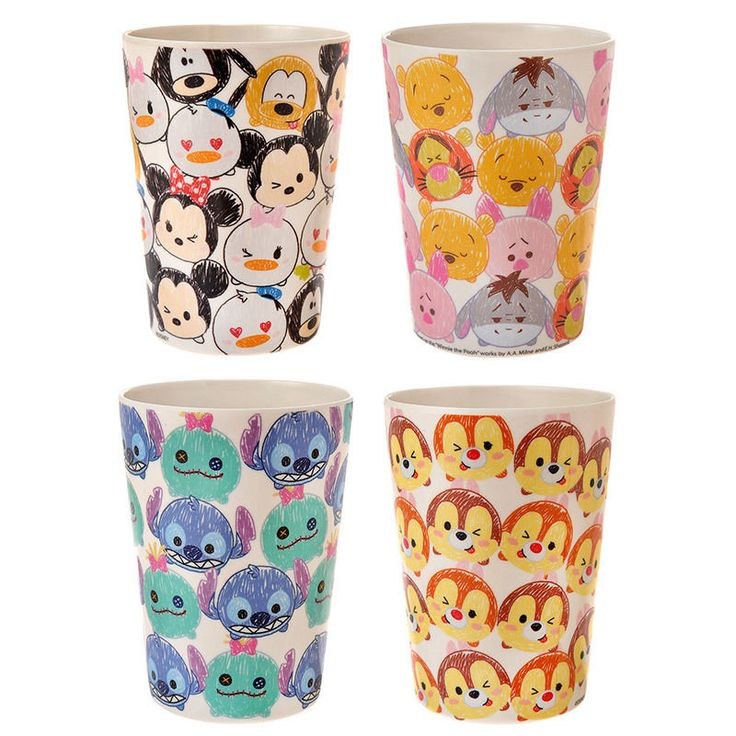 Disney Store Japan TSUM TSUM ❤ Cup Set Mickey Pooh Piglet Donald Daisy Chip Dale