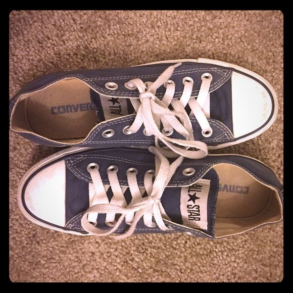 Navy Converses Navy blue All Stars that are a little old. No tags. No box. Converse Shoes Sneakers