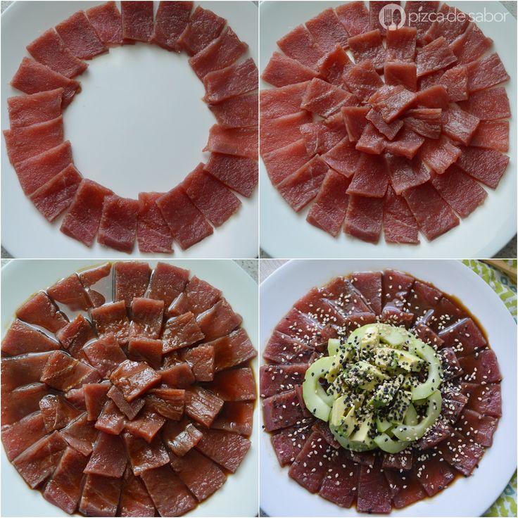 Sashimi de atún www.pizcadesabor.com