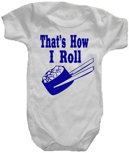 That's How I Roll Sushi Onesie or TShirt by CustomKingdom on Etsy, $19.95