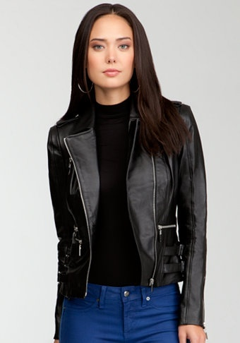 bebe   Claire Leather Moto Jacket - @Bebe_StoresHappy Birthday, Claire Leather, Black Leather, Crop Jackets, Leather Moto, Bebe Leather Jackets, Bebe Claire, Moto Jackets, Black Moto