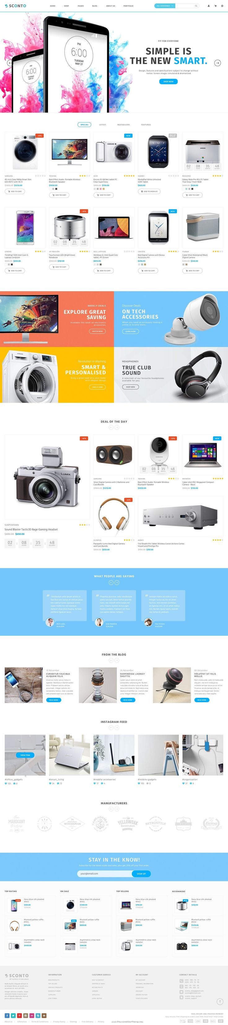 Sconto 10 in 1 Responsive eCommerce PSD Template Download #webdesign #onlineshop…