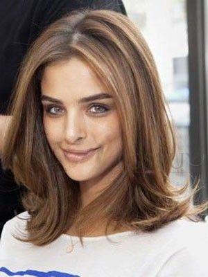 Perruque cheveux naturels lace front chic ondulée - Photo 1