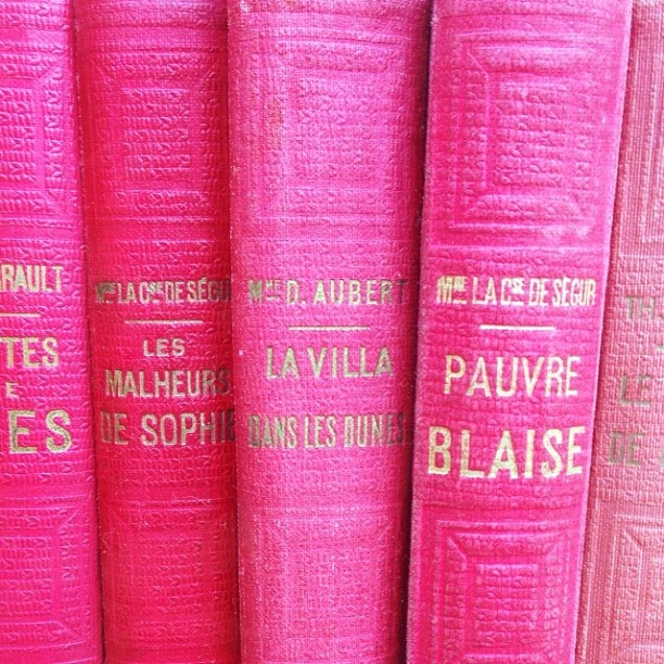 Pink books.
