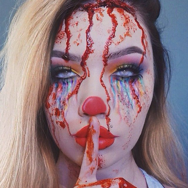 Halloween #cool #clown #makeup #creepy
