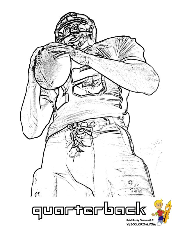 Coloring Pages Football Players Coloring Pages