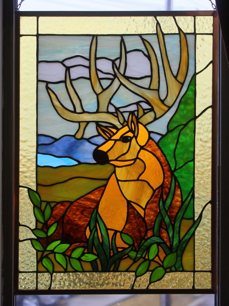 Stained Glass Designs : Best stained glass deer moose buck etc images on