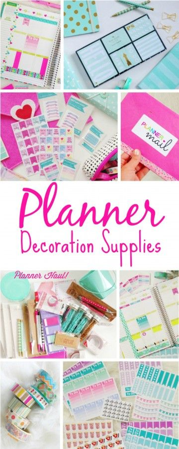 There are so many cute planner decoration supplies out there. You could literally spend hours shopping for stickers, washi tape, pens, sticky notes, and who knows what else. Here are some of my fav…