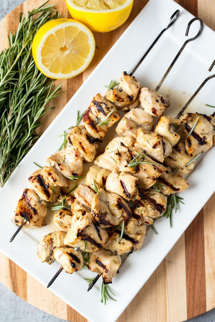 How long do i grill chicken kabobs - Rosemary Ranch Grilled Chicken Kabobs