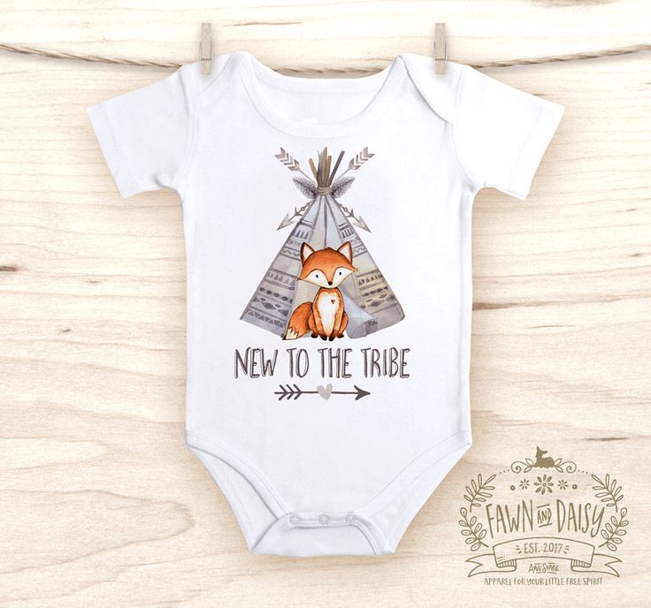 Fox Baby Clothes - New to the Tribe - Tribal Baby - Baby Boy Gift - Boys Coming Home Outfit - Sibling Shirt - Adding to our Tribe by FawnandDaisy on Etsy https://www.etsy.com/listing/522227869/fox-baby-clothes-new-to-the-tribe-tribal