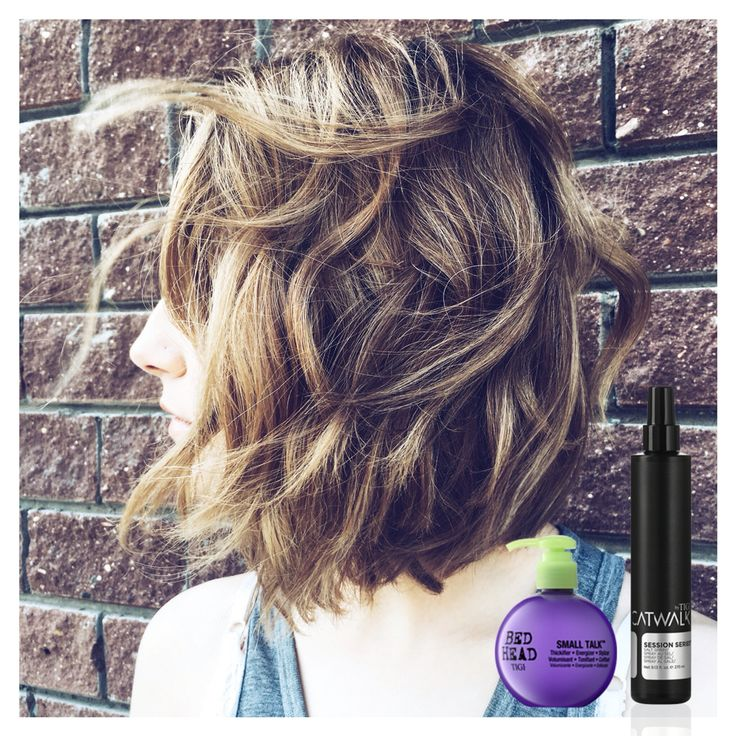Medium hairstyles  Укладка для средних волос Products used : Salt spray by Catwalk   Small talk by TIGI