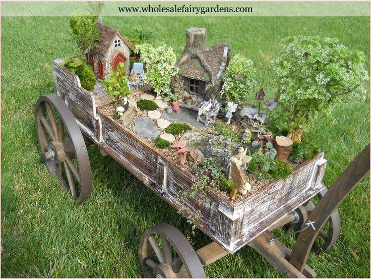 wagon  fairy garden