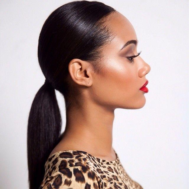 sleek ponytail ideas