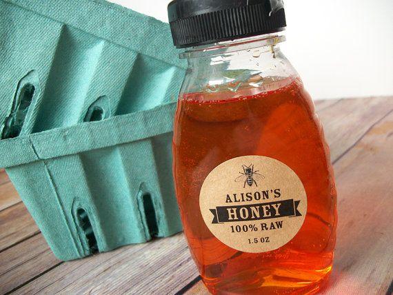 Personalizada frasco de miel KRAFT papel conservas y etiquetas de las botellas, etiquetas de encargo de miel para los apicultores, personalizada pegatinas redondas para tarros de masón de miel