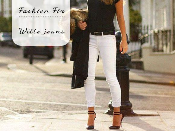 Zo kan je witte jeans leuk combineren!