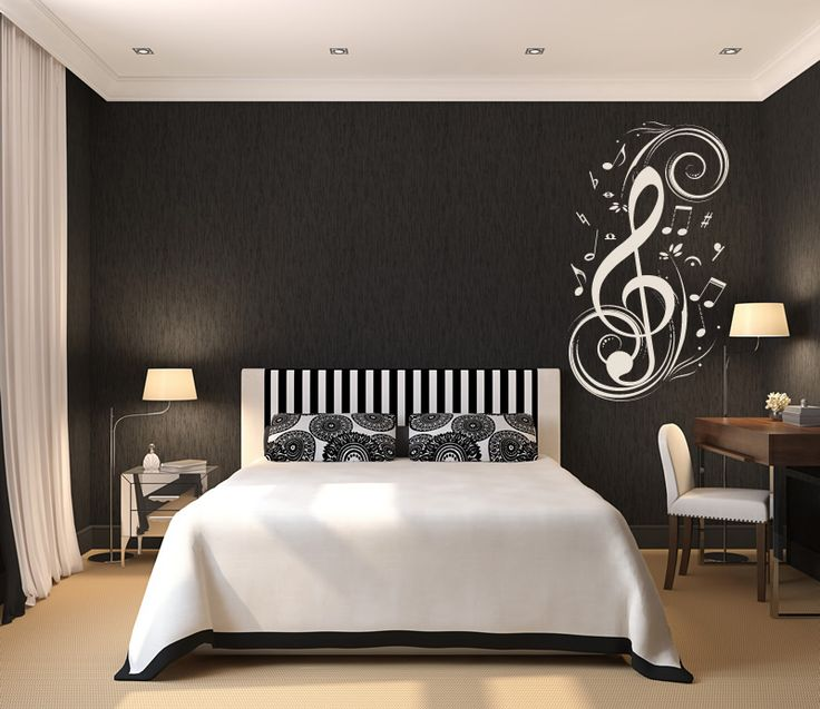 wall sticker decal art | Musical Notes Music Wall Stickers Wall Art Decal Transfers | eBay