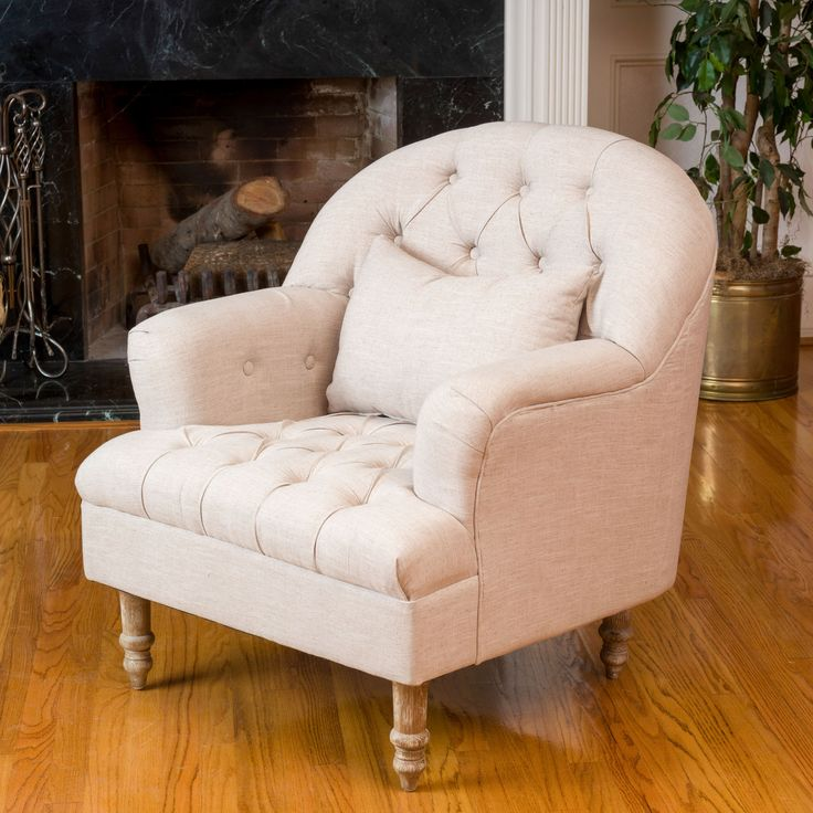 The Nelson Tufted Chair is a great piece for any room in your home. The tufted detail on the backrest and matching throw pillow gives this chair a touch of elegance, while still retaining all of the c