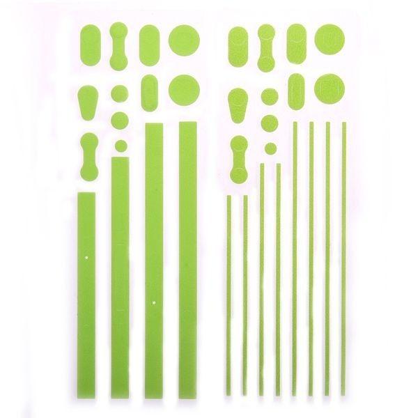 Custom Kant Sticker Skin for iPhone 4S/4 Metal Frame (Grønn)