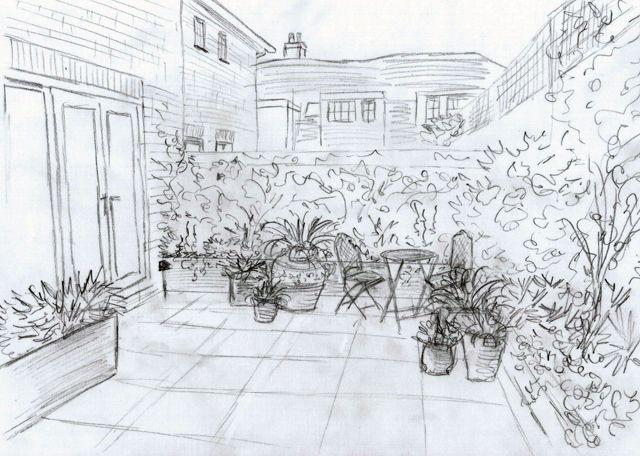 Best Garden Sketch Plans Images On Pinterest Landscape