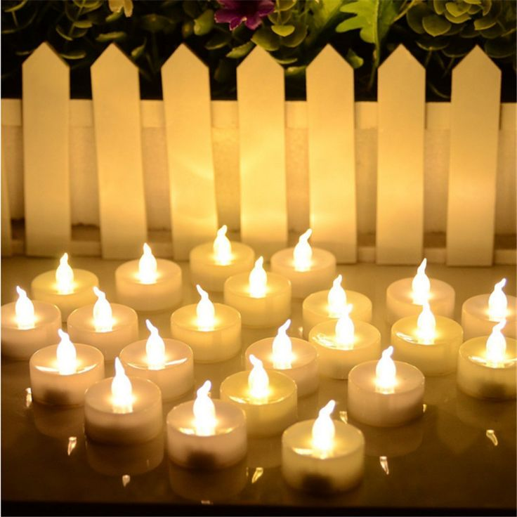 $14.99// 24 piece set of LED candles// Available in yellow, warm white, and cool white// Delivery: 2-3 weeks