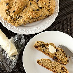 Irish Whiskey Soda Bread with Irish Whiskey Butter | Brown Eyed Baker