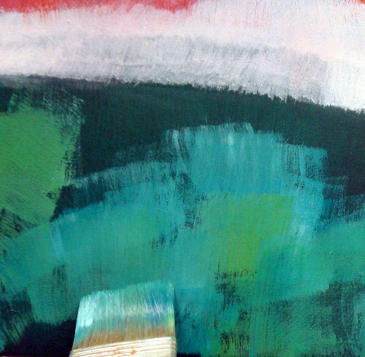 wepaint.dk kursus landskabsmaler lærer du at male med store strøg