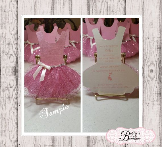 12 Ballerina Invitations Tutu Invitation von BobbiesPartyBoutique