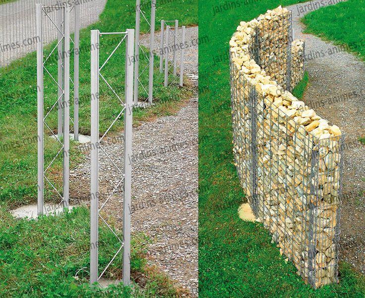 Les 25 meilleures id es concernant murs de sout nement sur pinterest jardin - Cage gabion pas cher ...