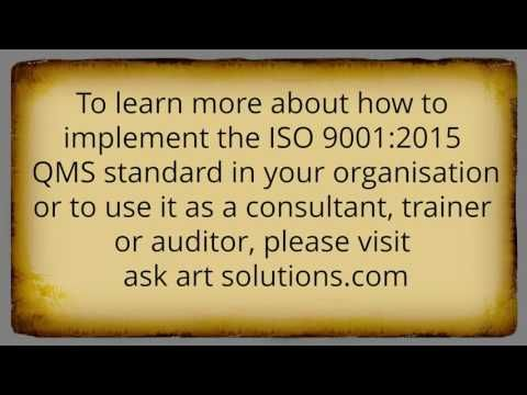ISO 9001:2015 Consulting - Frequently Asked Questions Part 5
