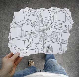 Cool twist to learning perspective drawings!