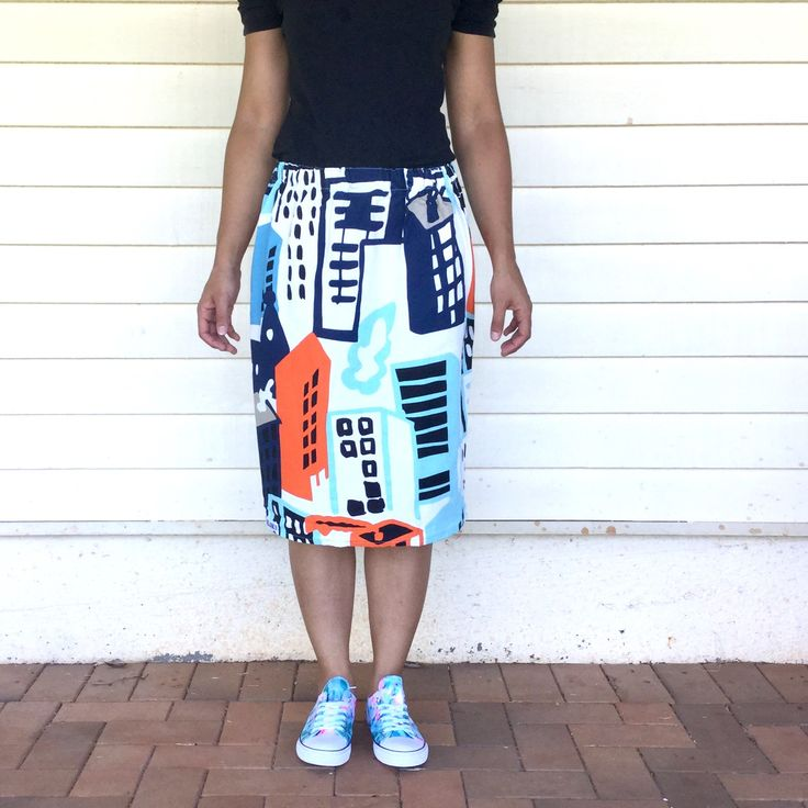 Ladies Cityscape skirt from Kablooie Store - bold, colourful, quirky fashion for ladies! Be fabulous!!