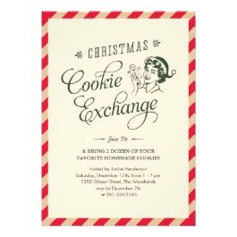 52 best cookie exchange invitations images on pinterest cookie exchange invitations for christmas cookie swap christmas cards by design pronofoot35fo Choice Image