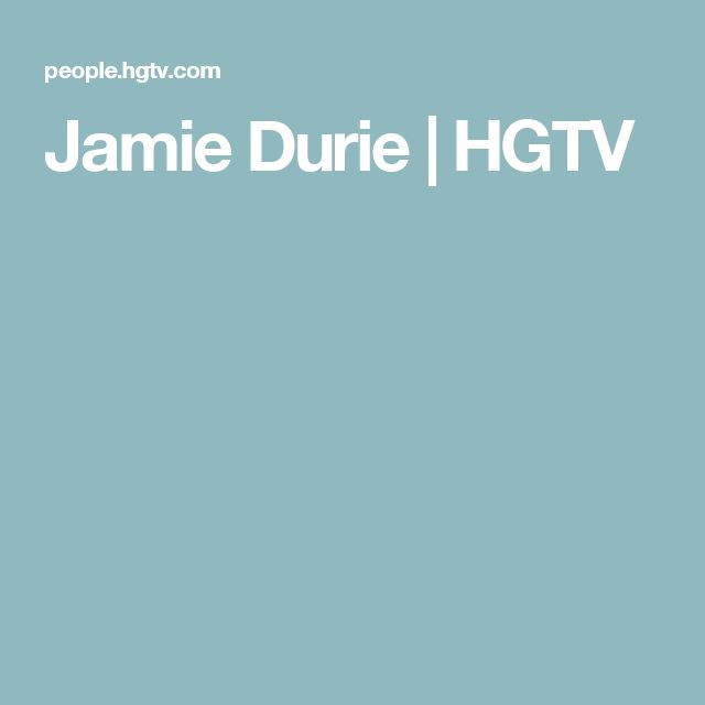 Jamie Durie | HGTV