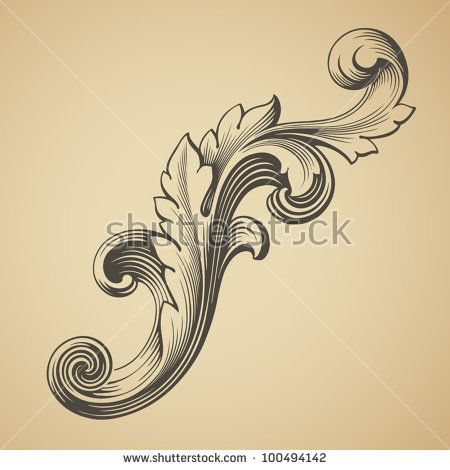 stock-vector-vector-vintage-baroque-design-frame-pattern-element-engraving-retro-style-scroll-100494142.jpg (450×470)