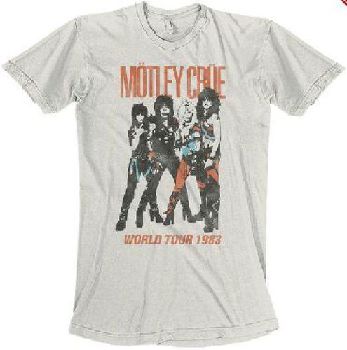 Motley Crue Vintage Concert T-shirt - Motley Crue World Tour 1983 | Men's White Shirt