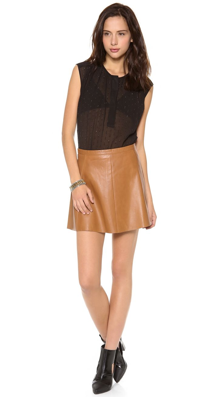 25  best ideas about Tan leather skirt on Pinterest | Tan skirt ...