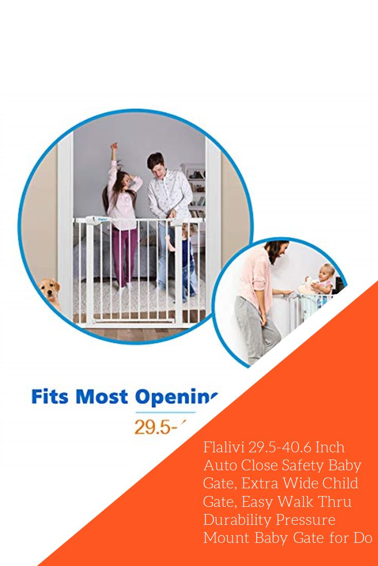 Flalivi 295406 inch auto close safety baby gate extra